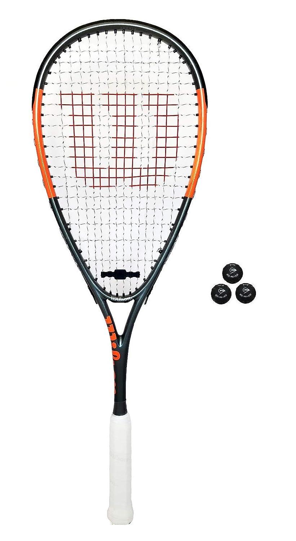 注目の 2 Rackets B004V3ITQY x Wilson Hyper Hammer 145 2 Red Squash Rackets + 3 Squash Balls RRP GBP232 B004V3ITQY, 快適パラダイス:dafbc91f --- ciadaterra.com
