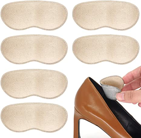Anti-slip Sticky Sponge Shoe Heel Inserts Insoles Pads Foot Care Cushion Grips