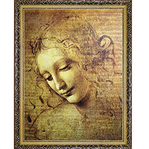 CHengQiSM 1500 Piece Jigsaw Puzzle - Leonardo Da Vinci La Scapigliata Jigsaw Puzzle for Kids Adult Man Women Teens Reduced Pressure Toy Gift - Learning and Education Toys Gift Children