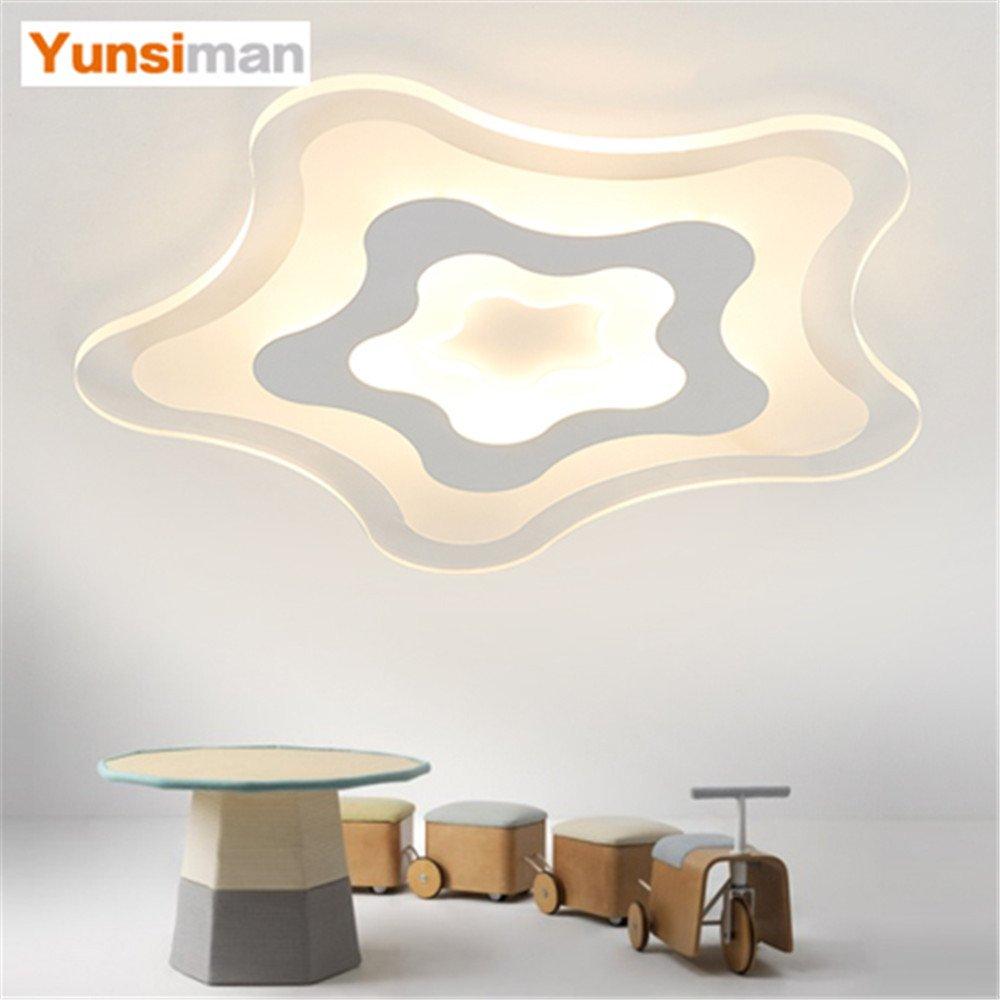 BRIGHTLLT Ultra-dünne Kinder Zimmer Sterne Deckenlampe modernen minimalistischen kreative Schlafzimmer Wohnzimmer Studie Mädchen Lampen LED-Persönlichkeit, 520 mm
