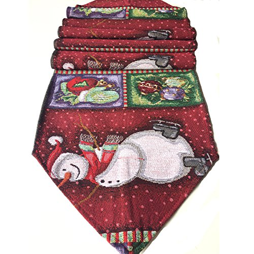Table Runners 72 Inch Table Cloth Decorations Centerpiece Snowman Red Thanksgiving 13