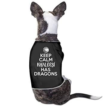 yrrown Keep Calm Khaleesi ha abrigos de perro Diseño de dragones: Amazon.es: Productos para mascotas