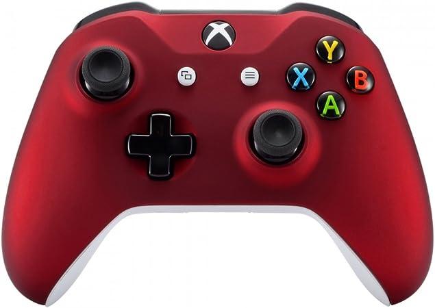 eXtremeRate Carcasa para Mando Xbox One S/X Accesorios Protectora Suave al Tacto Placa Frontal Funda Delantera Kit de reemplazo Cubierta Shell para Mando Controlador de Xbox One S/X(Model 1708) Rojo: Amazon.es: Electrónica