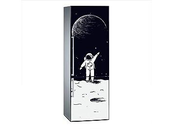 Kühlschrank Aufkleber : Amazon.de: oedim vinyl stickers astronaut und mond für kühlschrank