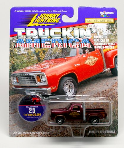 1978 LI'L RED EXPRESS * COLLECTOR NO. 25 * Johnny Lightning 1997 TRUCKIN' AMERICA COLLECTION 1:64 Scale Die Cast Vehicle * Limited Edition: 1 of only 20,000 * 1978 Dodge Lil Red Express Truck