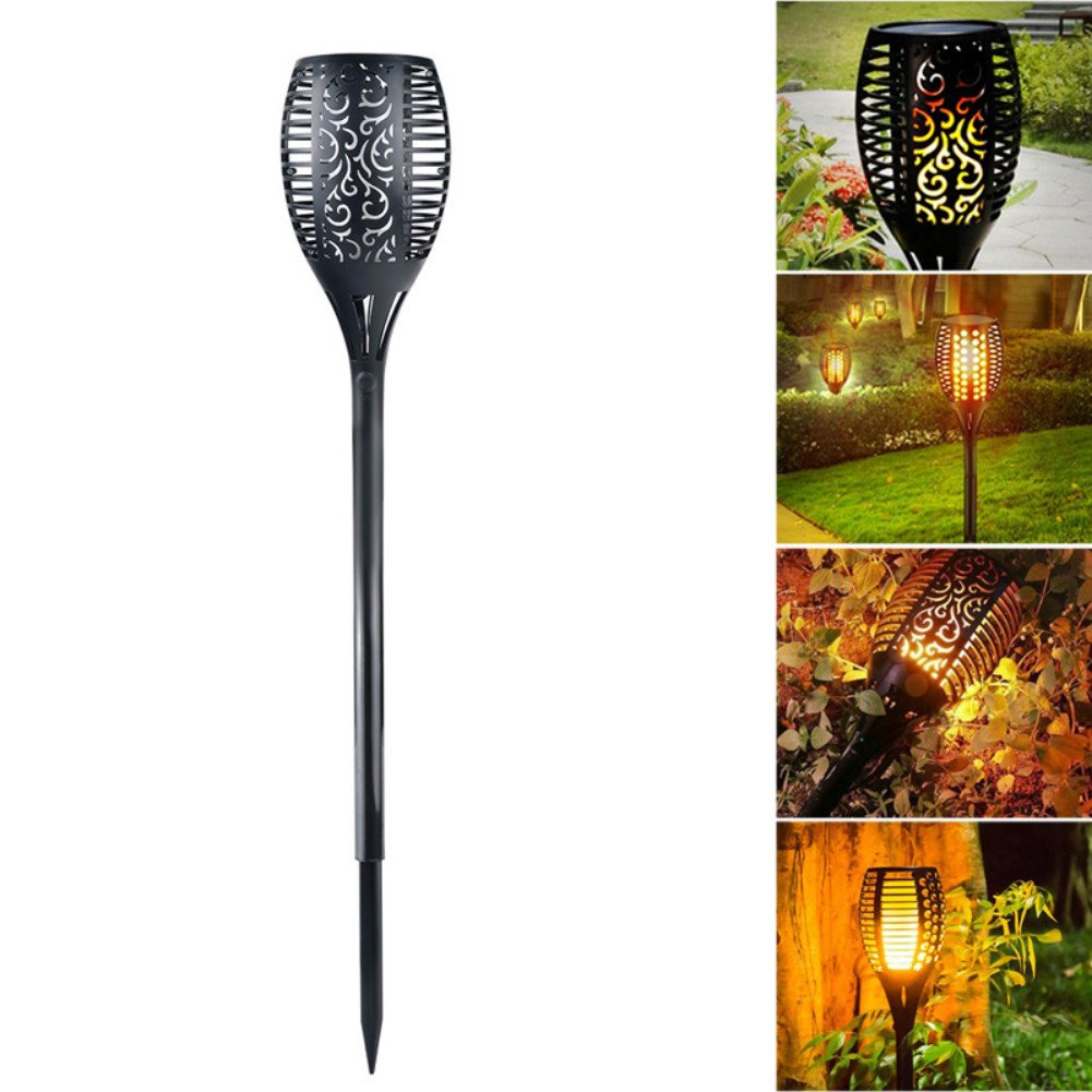 ASOSMOS Solar Light Flickering Flames Torch Lamp Landscape Decoration Lights for Garden Yard Patio Pathway