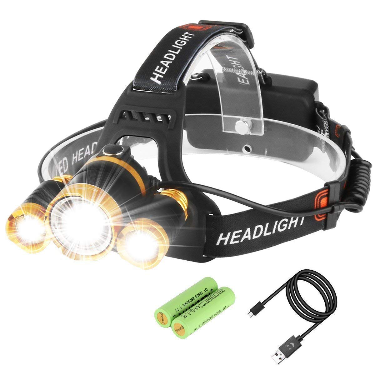 Neolight Led Headlamp Super Bright 5 High Lumen Rechargeable Exciting Scout Crafts 1 Or 2 Zoomable Waterproof Head Torch Headlight Flashlight For Outdoor Hiking Camping Hunting