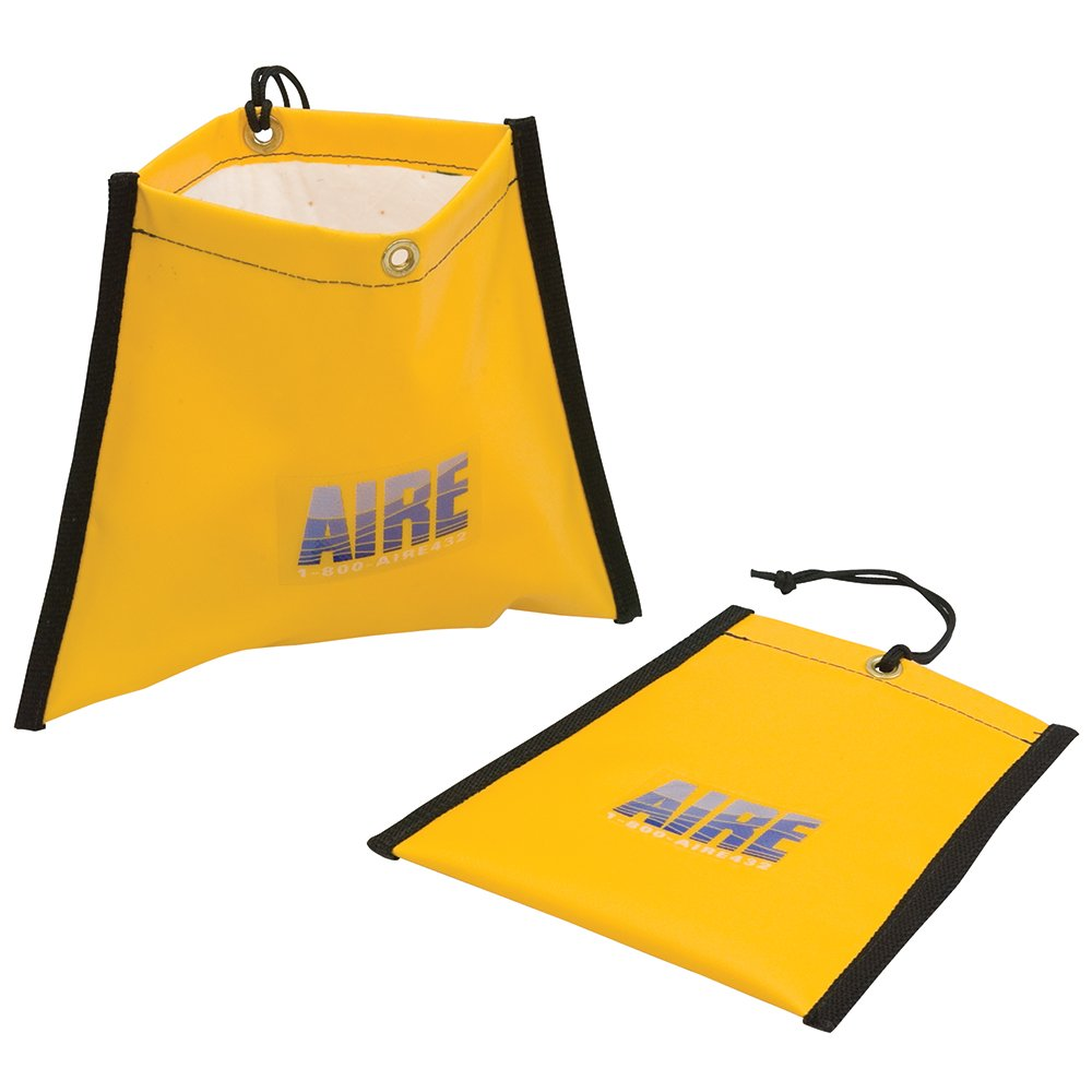 """AIRE Industrial Hose Leak Drip Pouch 1"""" to 2"""", with Absorbent pad, Bright Yellow"""
