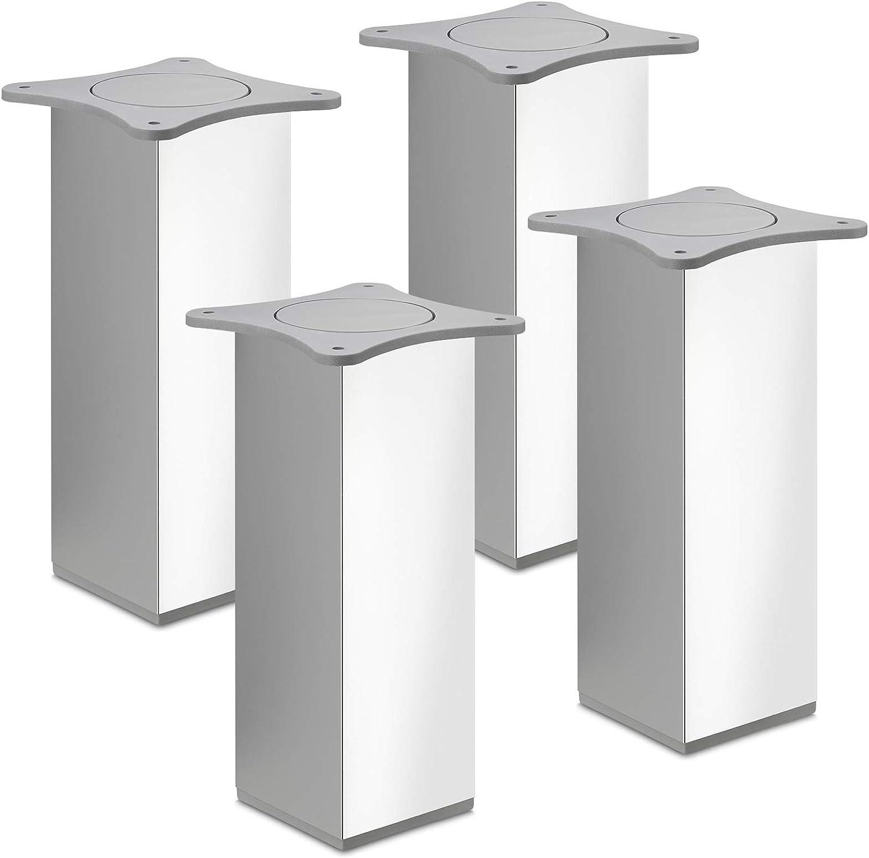 SOTECH 8 St/ück M/öbelf/ü/ße MOTEL 30 mm 65 x 65 mm Chrom poliert Schrankbeine aus Aluminum