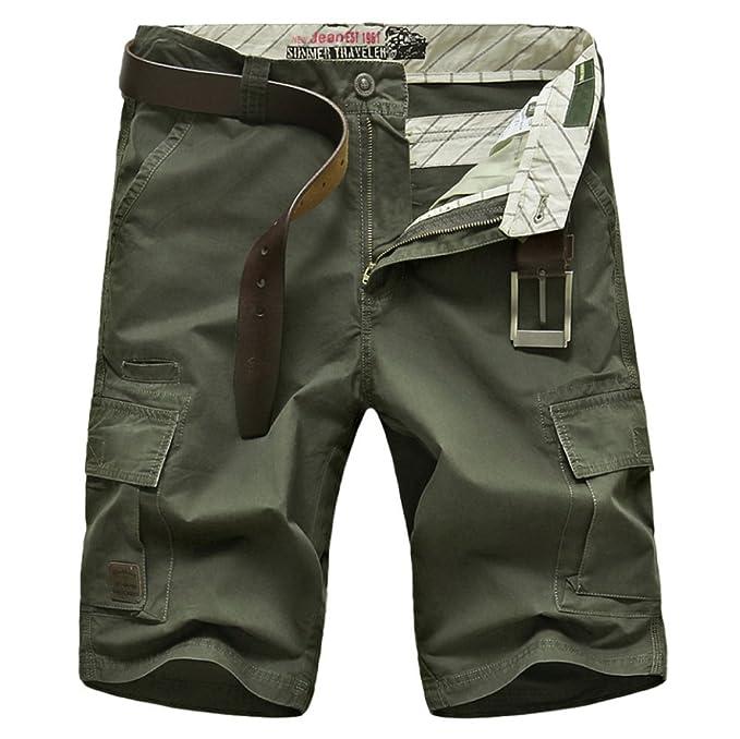 ef4f005354 Pantalones Cortos De Algodón Sueltos Multiusos del Verano De Los Hombres  Pantalones Cortos De Cinco Hombres Delgados para La Playa Al Aire Libre  (sin ...