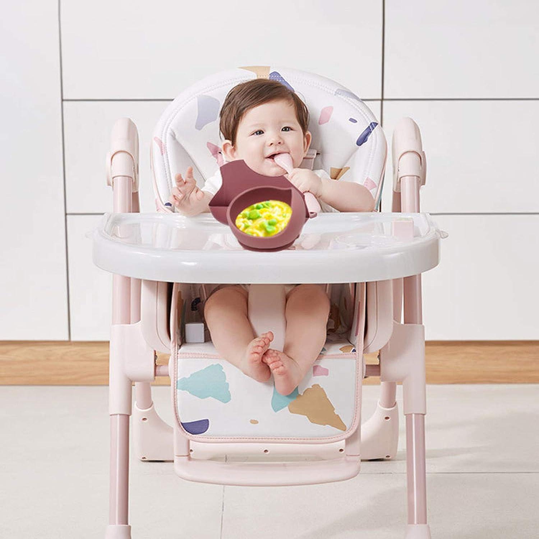 3 Pz Baby Stoviglie Set Neonato Bavaglini In Silicone+Cena Piatto Ciotola+Cucchiaio Piatti Set Utility Da Utilizzare