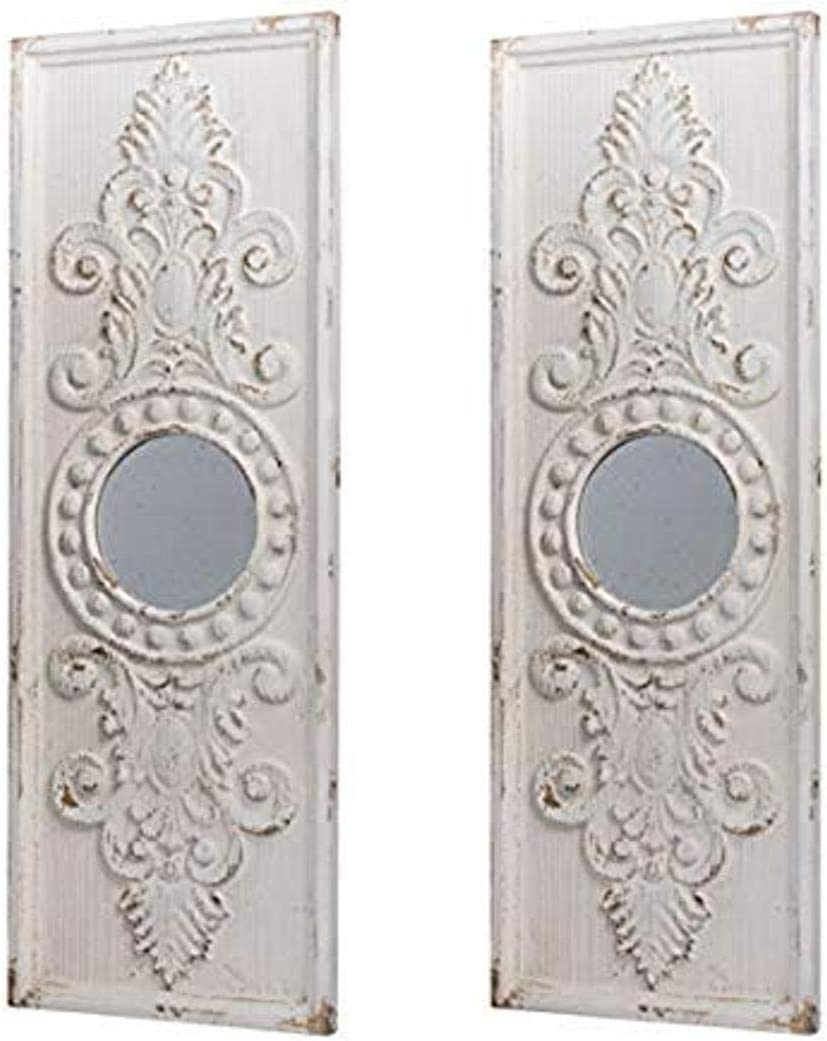 A&B Home Southern Living French Country Two Panel, Antique White Wall Décor, Set of 2