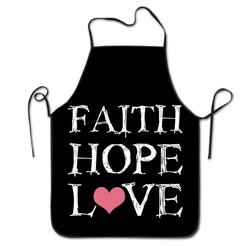 Faith Hope Love キッチンエプロン レディース ヴィンテージエプロンドレス メンズ クッキングエプロン Pinafore   B07DCJNMRF