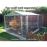 FeelGoodUK Galvanised Cage, 3 x 3 x 1.8 m