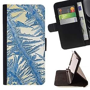 For Samsung Galaxy Note 5 5th N9200 Case , Crystal Sun Azul Blanco Invierno- la tarjeta de Crédito Slots PU Funda de cuero Monedero caso cubierta de piel