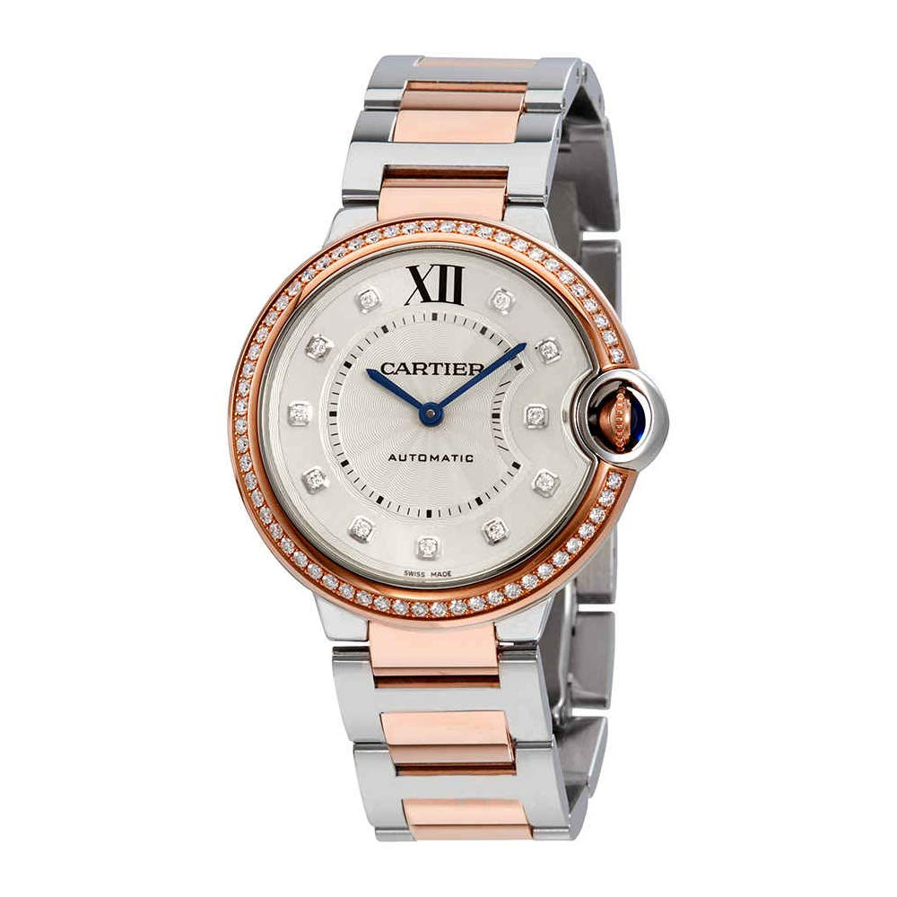 83c70c9a828b Amazon.com  Cartier Ballon Bleu Automatic Silver Dial Ladies Watch  W3BB0004  Watches