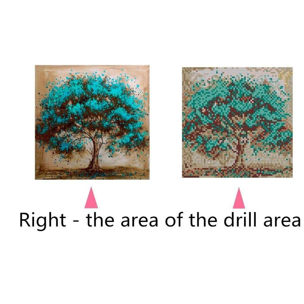 5D Diamond Painting Kit Full Drill,Lavany 5D DIY Diamond Paint By Number Kits Embroidery Rhinestone Pasted Wall Decor,Stamped Cross Stitch Kits,Butterfly Tree B