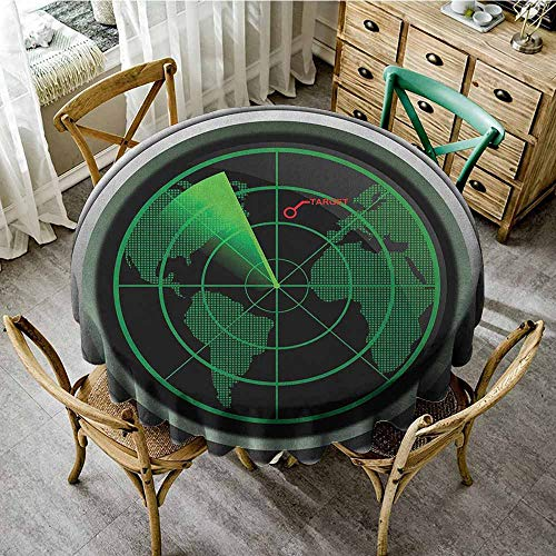 YSING Machine Washable Round Tablecloth 63