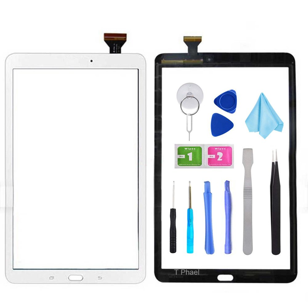 White Touch Screen Digitizer for Samsung Galaxy Tab A 10.1 - Glass Replacement Parts for T580 T585 SM-T580 SM-T585 2016 (Not Include LCD) with Tools Kit + Pre-Installed Adhesive