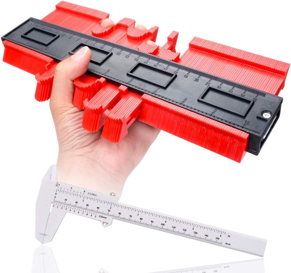 Jauge de contour profil en plastique 25cm Jauge de profil/é pour pr/écision Mesure de tra/çage de forme