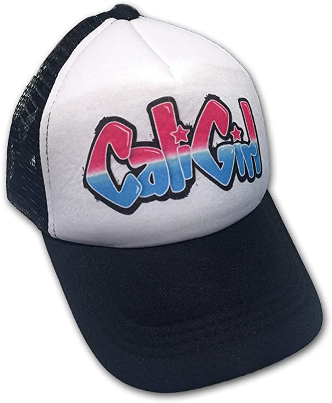 Sol Baby Cali Girl Graffiti Pink//Aqua Infant//Kids Trucker Hat