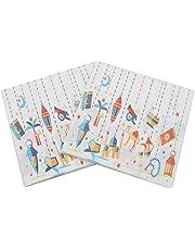 Gysa Servilletas 2 paquetes (20 hojas/paquete) Serie fiesta Servilletas papel Pulpa de madera nativa Servilletas decoupage Suave y confortable Servilletas papel pequeñas