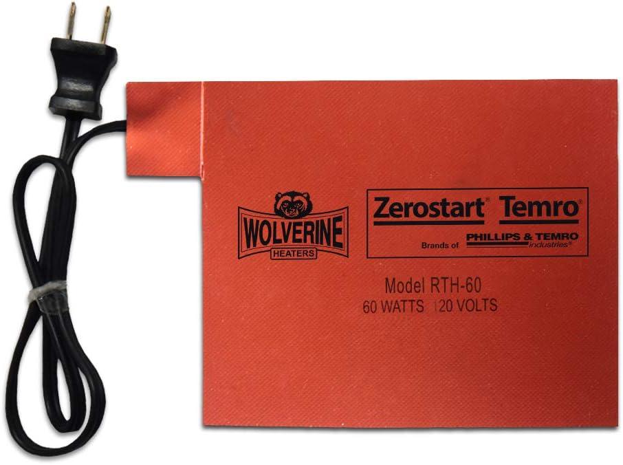 "Zerostart 3400066 5.5"" x 8.5"" Silicone Pad Battery Heater | 120 Volts | 60 Watts"
