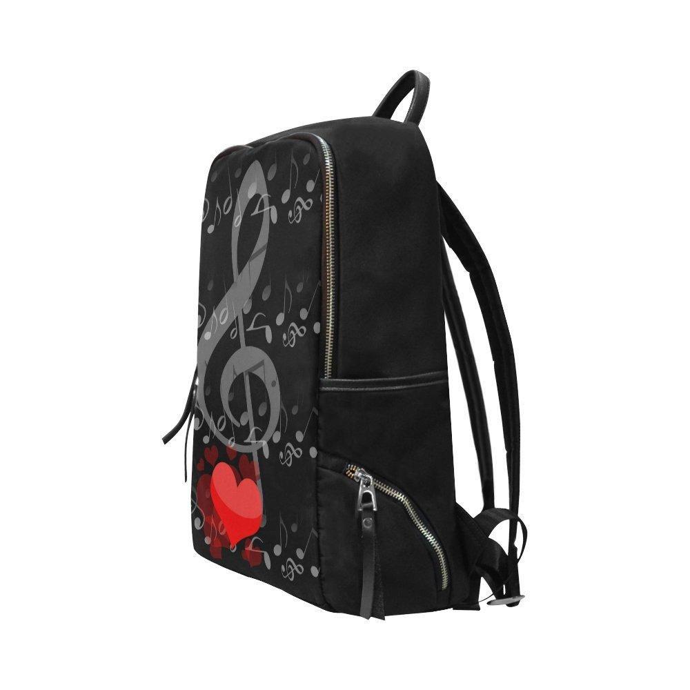 InterestPrint Music Notes Love School Casual Travel Backpack School Bag Travel Daypack by InterestPrint (Image #3)