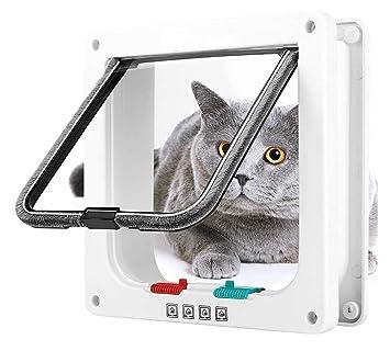 DAN Puerta Abatible para Gatos, Magnética, para Mascotas, con 4 Cerraduras para Cachorros Y Perros Pequeños,S: Amazon.es: Deportes y aire libre
