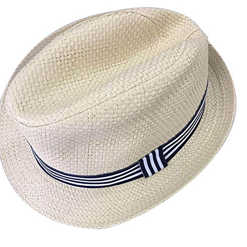 Loriver Summer Raffia Weave Straw Sun Hat Strap Woven Imported Wear for Baby and Children (Blue, for 2-6 Years (Raffia Woven Hat)