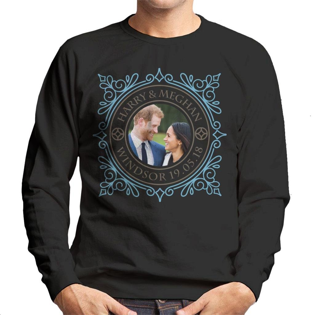 Coto7 Blue Frame Harry and Meghan Royal Wedding Men's Sweatshirt