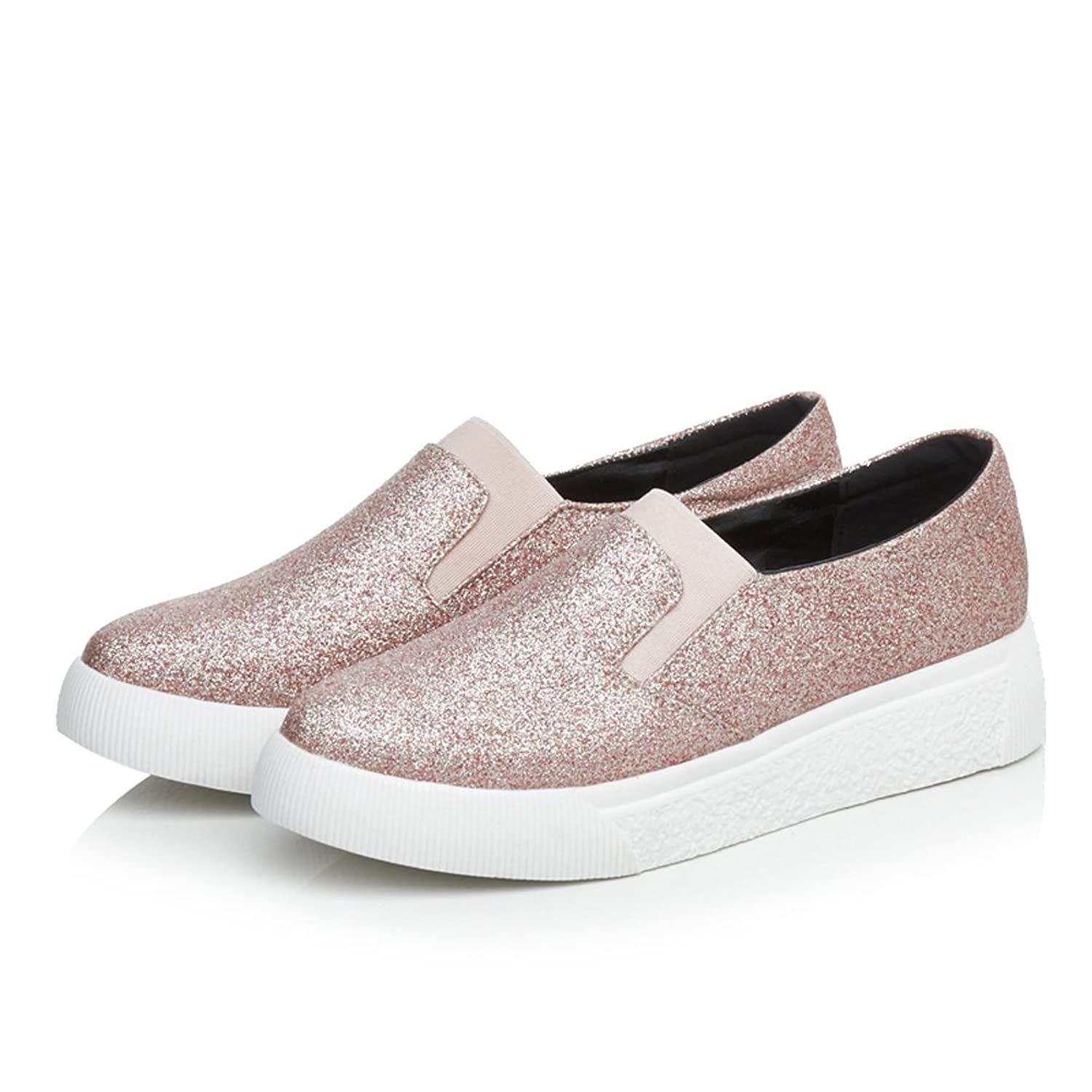 Women Glitter Fashion Sneakers Low-Top Loafers Sparkle Flats Casual Flatties DolphinGirl Shoes Prime