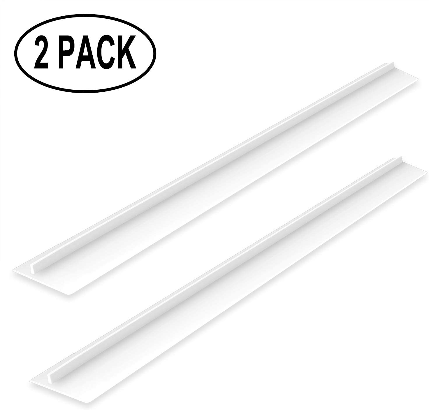 "mdairc Silicone Kitchen Stove Counter Gap Cover Wide & long Gap Filler, 21"", Seals Spills Between Appliances: Counter, Stovetop, Washing Machine, Oven, Washer, Dryer (White)"