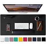 Leather Desk Pad Protector,Mouse Pad,Office Desk Mat, Non-Slip PU Leather Desk Blotter,Laptop Desk Pad,Waterproof Desk Writin