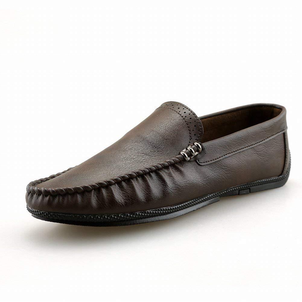 All-Match-Persönlichkeit Treibende Schuhe British Breathable Bohne Schuhe Schuhe Schuhe Trend Bequemes Pedal Faul (Farbe   rot braun, Größe   39) 4ed753