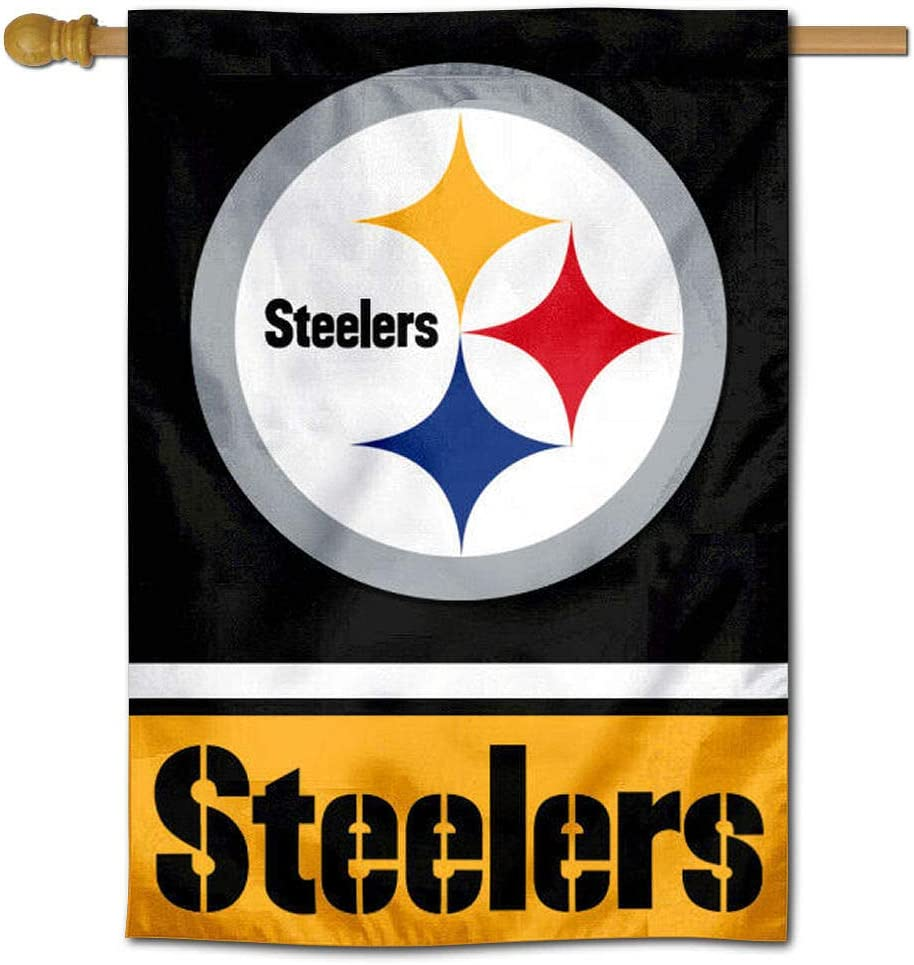 WinCraft Pittsburgh Steelers Two Sided House Flag