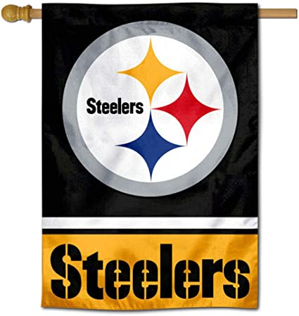 Pittsburgh Steelers Two Sided Embroidered Nylon House Flag
