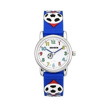 Armbanduhr kinder blau  Zeiger Fußball Kinderuhr Jungen Armband Uhr Fußball Kinder ...