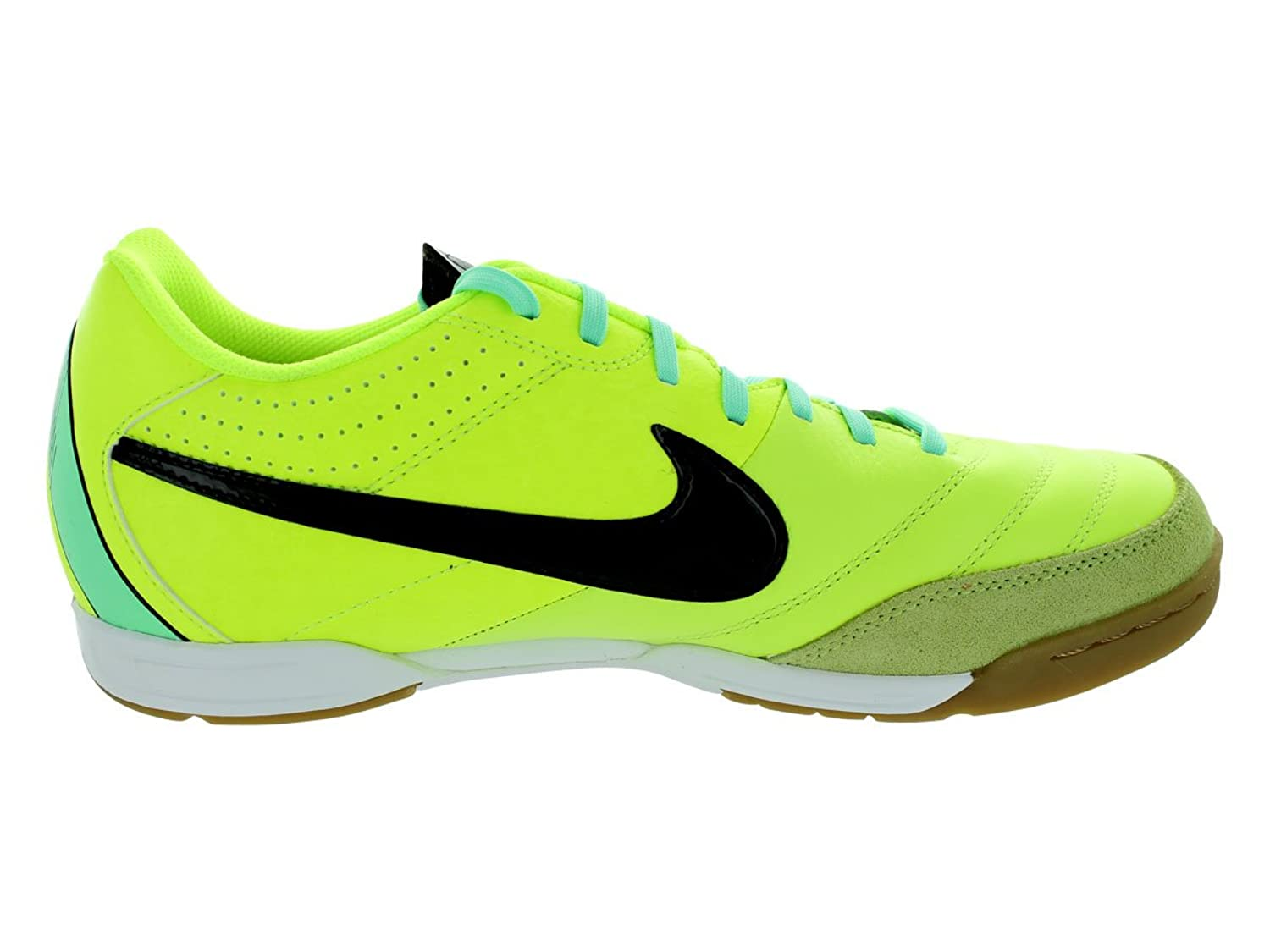 9dbf423b1d005 Mens Nike Tiempo Natural IV Leather Indoor Soccer Cleat Volt/Green  Glow/Black