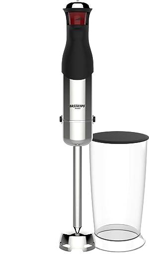Bastilipo Turbo-mix800 Batidora de Mano con Vaso Medidor, 800 W, Acero Inoxidable, Negro y Gris: Amazon.es: Hogar