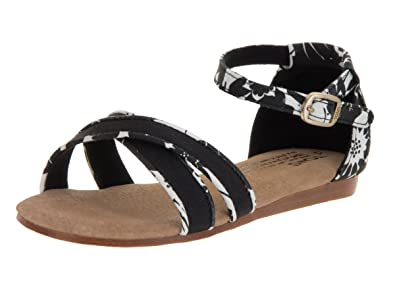 909529a15894 TOMS Kids Correa Sandal Black White Sandal 1 Kids US
