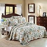 queen quilt birds - Dodou Garden Theme Bird Patchwork Bedspread/Quilt Sets 100% Cotton Queen Size 3pcs