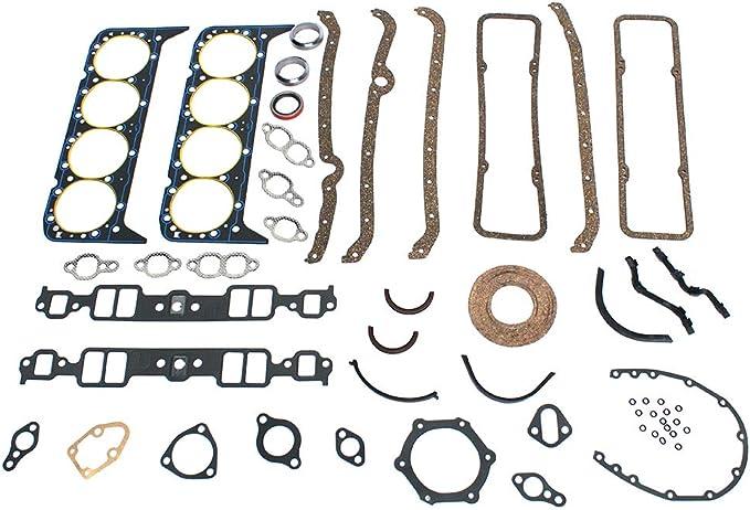 Set Guarnizioni Guarnizione Adatto per Chevy 327 283 307 350 383 Motori V8 Revisione Completa Aspirazione Testata Tickas Kit Guarnizioni Guarnizione