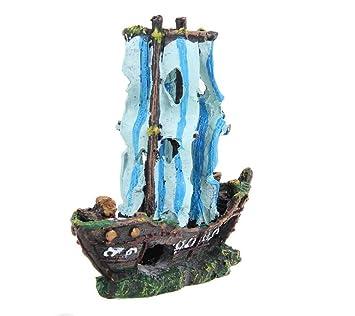 Xinjiener Naufragio naufragio naufragio naufragio del Acuario para la Decoración del Paisaje de la pecera: Amazon.es: Productos para mascotas