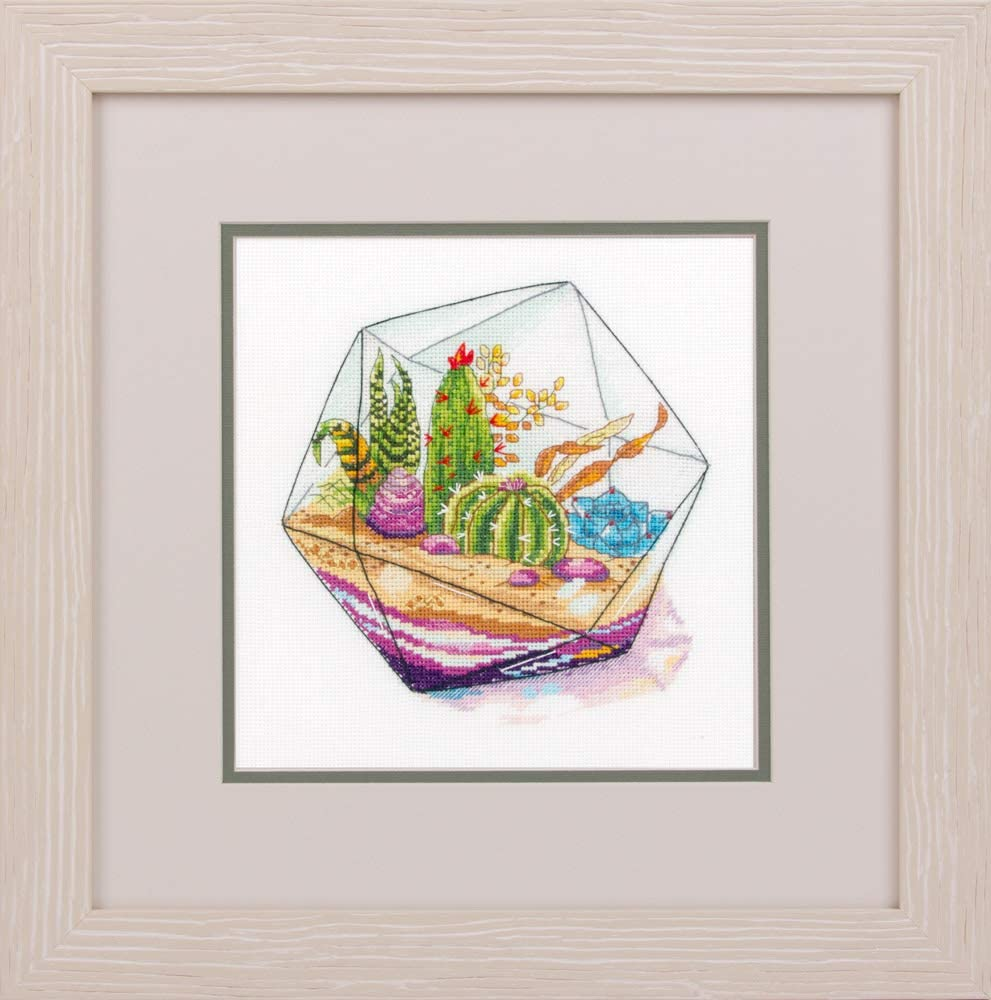 """DIY Cross Stich Kit Fun Needlework Pattern Counted 7.9/"""" x 11.4/"""" or 20 x 29cm Flowers Cross Stitch Kits for Beginners and Adults Anemone Panna Embroidery Kit"""