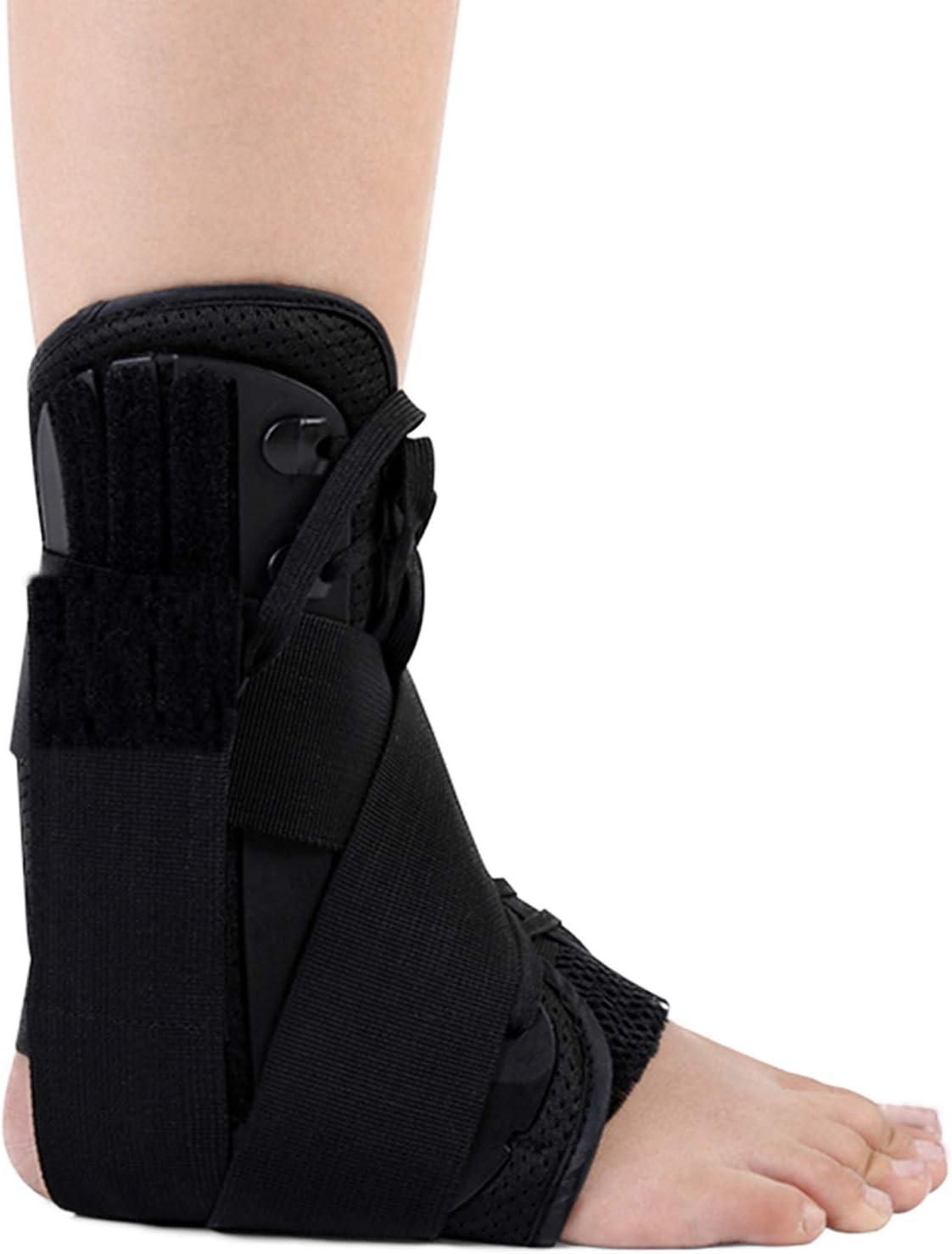 YOYI Tobillera Órtesis de tobillo, soporte de esguince de tobillo ajustable,transpirable,órtesis de compresión para artritis, lesiones deportivas en hombres y mujeres,facilitar recuperación (L)