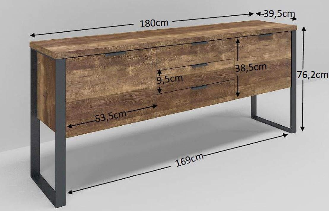 Marchio  -/Movian Ems 180 x 39,5 x 76,2 cm effetto quercia Mobile con 3 cassetti e 2 ante