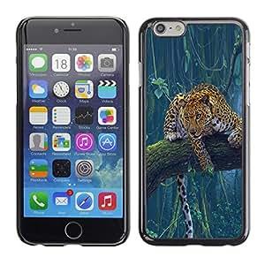 TECHCASE**Cubierta de la caja de protección la piel dura para el ** Apple iPhone 6 ** Leopard Spots Cheetah Jungle Rainforest