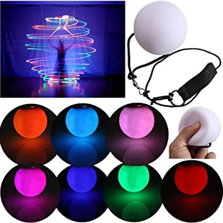 YongYI LED Glow poi buttate palle da giocoliere per livello professionale per la danza mano puntelli