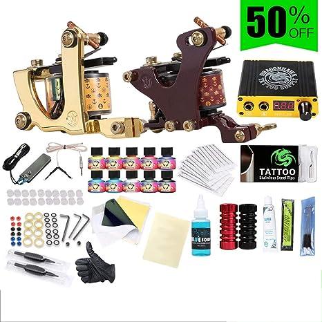 WENHU Kit de Tatuaje Completo Profesional Set Máquina de Tatuaje ...